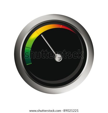 vector speedometer isolated over white background for you web design. Tachometer measure rpm. Foto stock ©