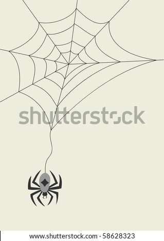 Vector spider and cobweb for your halloween design