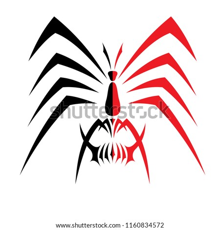 vector spider characters, for tattoos and for other design purposes. can be used and edited easily.
