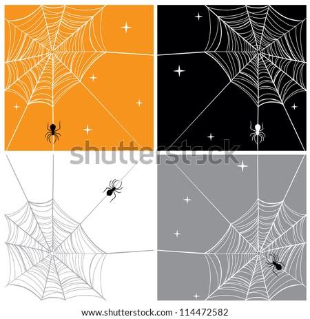 Vector Spider & SpiderWeb Backgrounds
