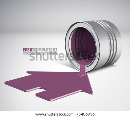 Vector Spilled Paint - House