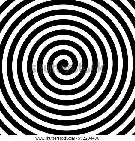 Vector spiral background in black and white. Hypnosis theme. Abstract design element. Foto stock ©