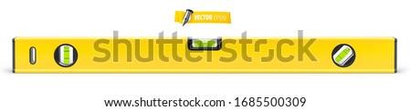 Vector spirit level on white background Stock fotó ©