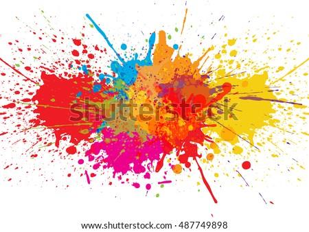 vector splatter color