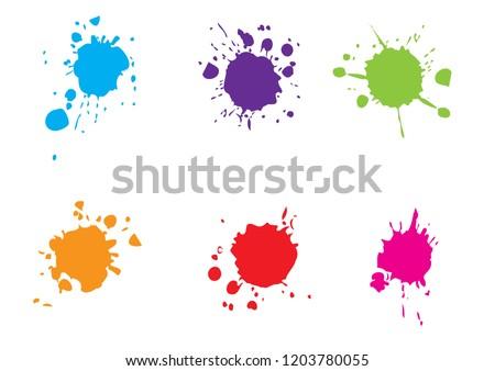 vector splatter color paint