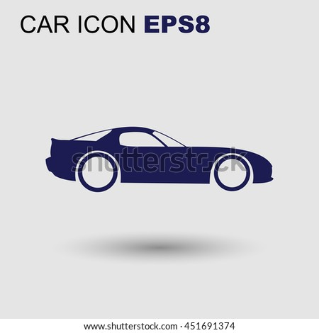 vector sport car icon