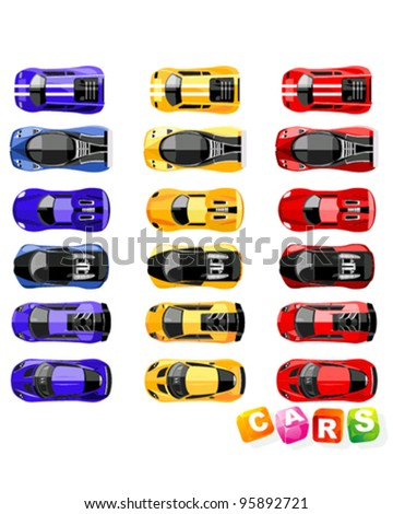 Vector sport cars collection