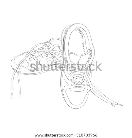 vector sport footware isolated