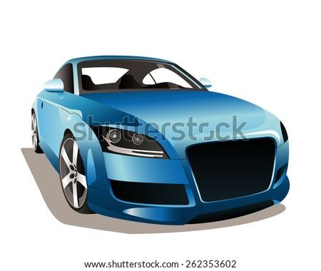 Blue Car Graphics Download Free Vector Art Stock Graphics Images - Audi car vector