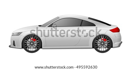 vector sports car white color
