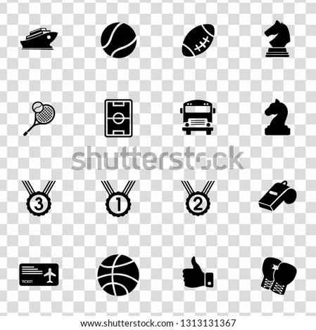 vector sports icons set. vector pictogram symbols - activity, game and competition icons