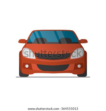 vector sports red car front