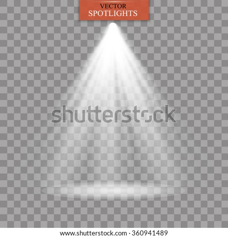 vector spotlight light effect