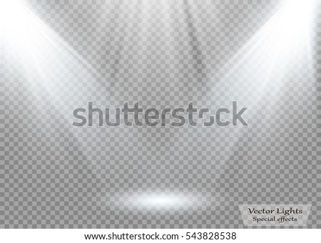 Vector spotlight. Light effect