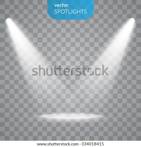 Shutterstock Vector Spotlights. Scene. Light Effects.