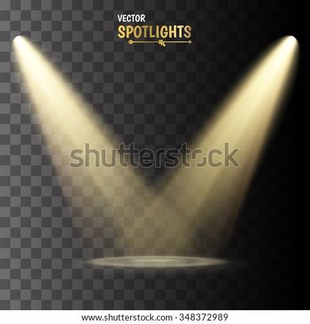 vector spotlights scene light