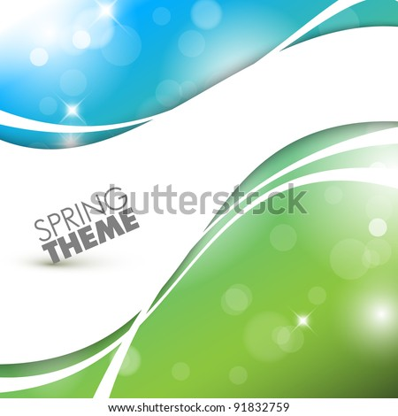 Vector Spring abstract background with place for your text - stock vector