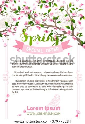 vector spring background pink