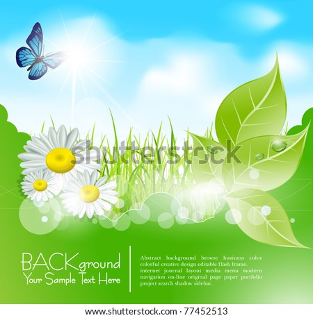 vector spring banner with