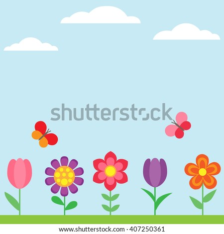 vector spring flower background