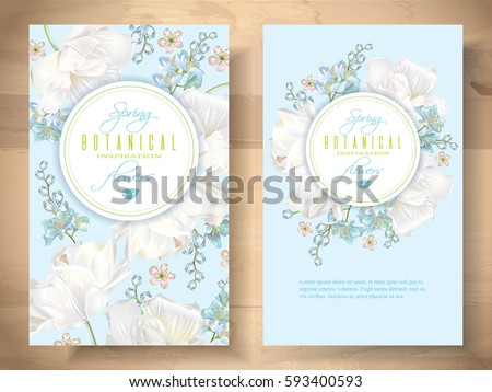 vector spring flower banners