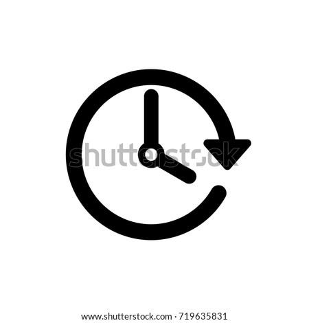Vector spring forward icon. Change time. Adjust time. set time.