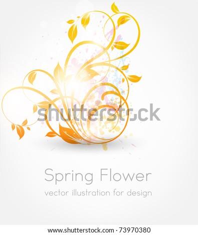 Vector spring illustration of floral ornament. eps 10.