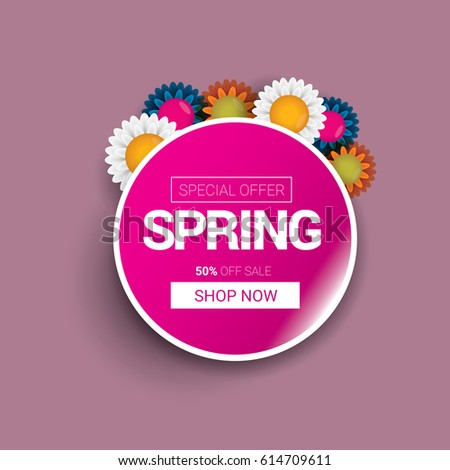 vector spring sale template