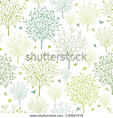 vector spring trees seamless