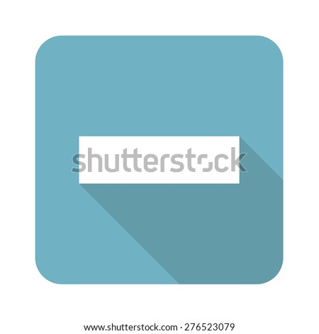 Vector square icon with minus symbol, isolated on white
