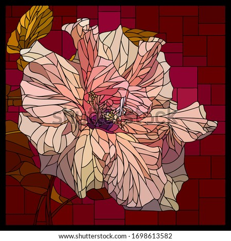 vector square mosaic with