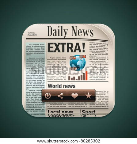 Vector square newspaper XXL icon