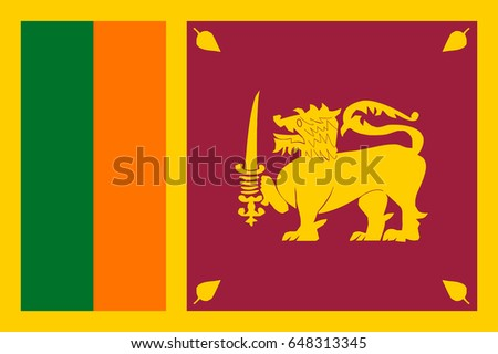 Vector Sri lanka flag, Sri lanka flag illustration, Sri lanka flag picture, Sri lanka flag image