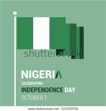 Vector 1st October Nigeria Independence Day. Celebration Card. Illustration