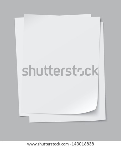 vector stack of papers, grouped and layered, easy to edit and move each one in different directions