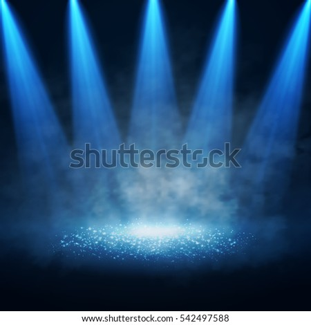 vector stage illuminated by