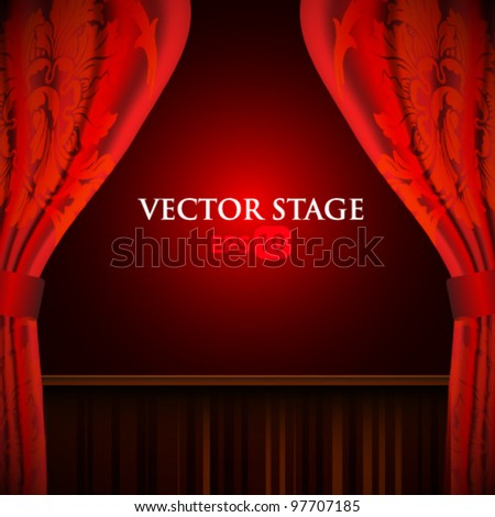 Vector stage illustration