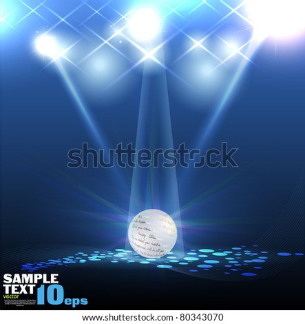 Vector Stage Spotlight with Laser rays and ball