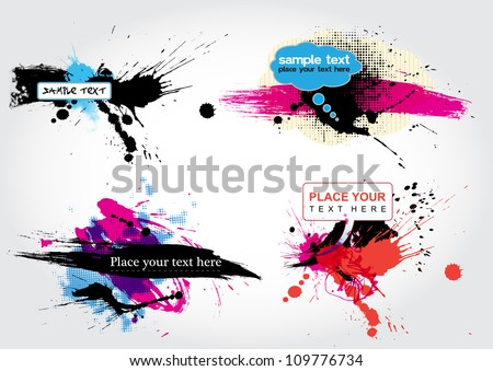 vector stain banners