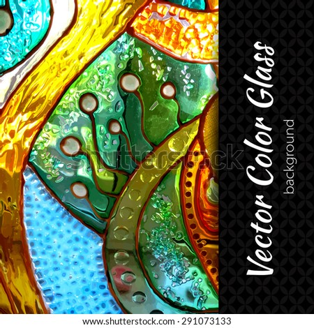 vector stained glass background