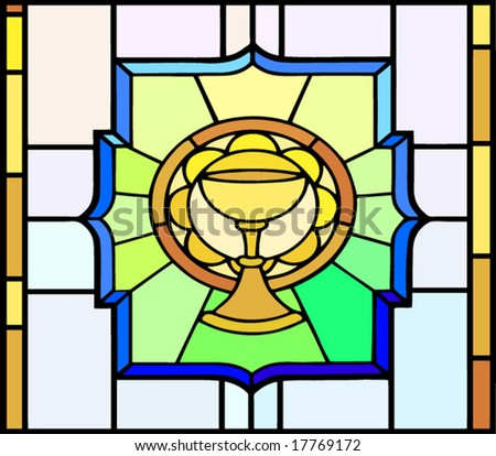 Vector Stained Glass Window Cup