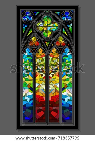 vector stained glass window