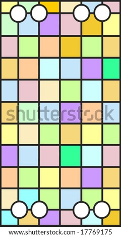 Vector Stained glass window of squares