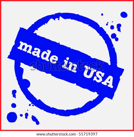 Vector stamp - Made in USA