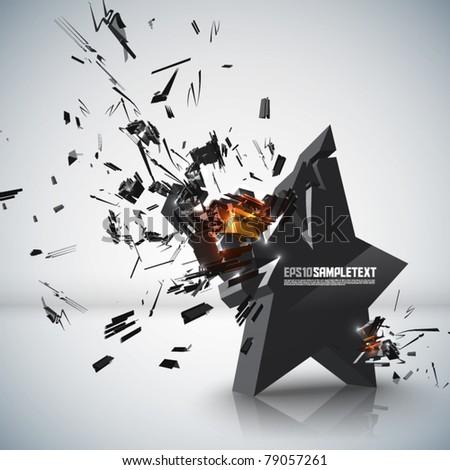 vector star crushing