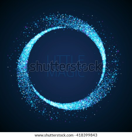 vector star dust circle magic