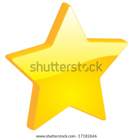 stock vector : Vector Star, Favorites, Bookmarks - 3D Glossy Icon