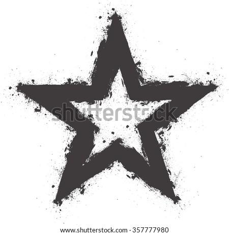 vector star  grunge star