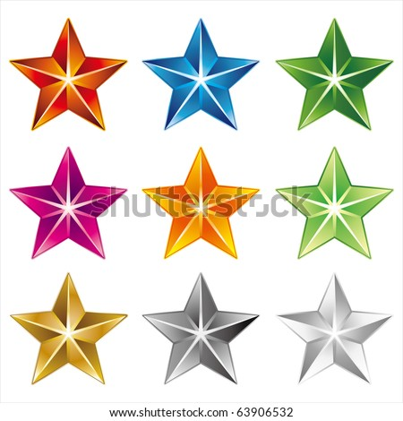 vector star icon on white