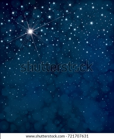 vector starry night sky